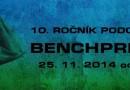 Skok+ Vás zve na 10. Ročník Podolského Benchpressu